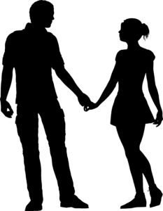 мужчина и женщина держатся за руку
