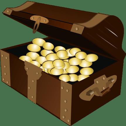 cундук с золотом