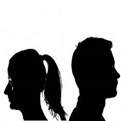 мужчина и женщина отвернулись друг от друга