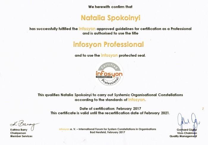 Infosyon Professional Certificate