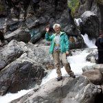 на водопаде в Аршане